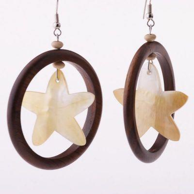 Perleťové náušnice Trblietanie hviezdy