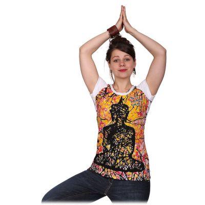 Dámske tričko Mirror s krátkym rukávom Buddha White | S, M, L