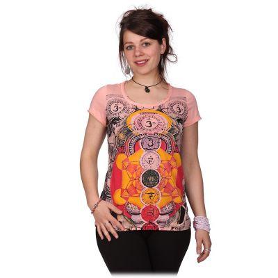 Dámske tričko Mirror s krátkym rukávom Chakras Pink | S, M, L, XL