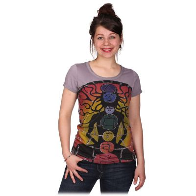 Dámske tričko Mirror s krátkym rukávom Meditation Grey | S, M, L