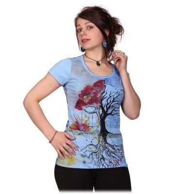 Dámske tričko Mirror s krátkym rukávom Tree by a Lake | S