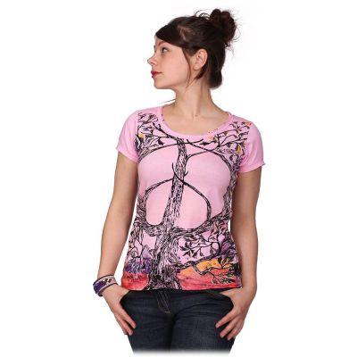 Dámske tričko Mirror s krátkym rukávom Tree of Peace Pink | S, M, L