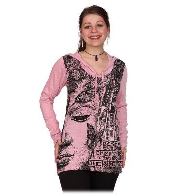 Dámske tričko Sure s kapucňou Buddha's Butterflies Pink | M, L