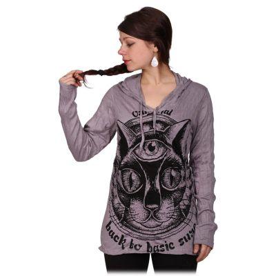 Dámske tričko Sure s kapucňou Cat's Insight Grey | S, M, L