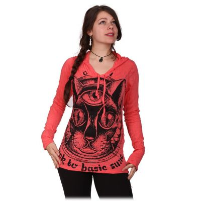 Dámske tričko Sure s kapucňou Cat's Insight Pink   S, M, L