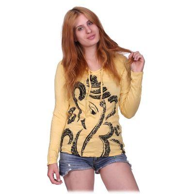 Dámske tričko Sure s kapucňou Elephant Yellow | S, M, L