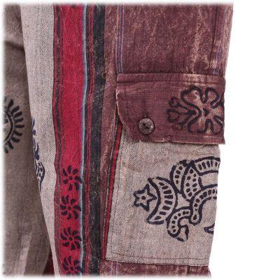Pánske etno nohavice Gambar Brown Nepal