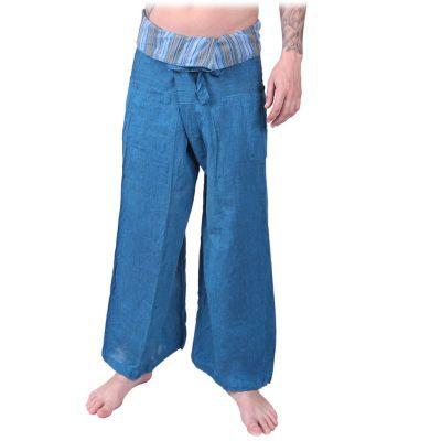 Nohavice Fisherman's Trousers - tyrkysové