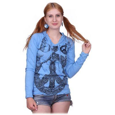 Dámske tričko Sure s kapucňou Dove of Peace Blue | S, M, L, XL