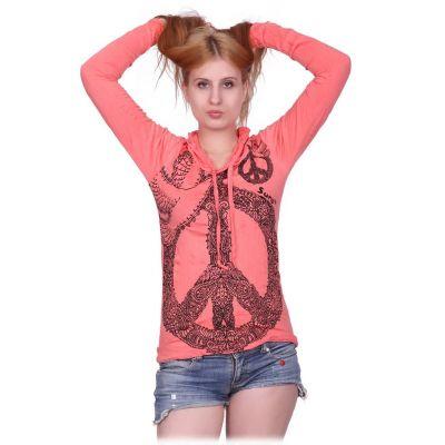 Dámske tričko Sure s kapucňou Dove of Peace Pink | S, M, L