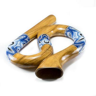 Cestovné didgeridoo esovitého tvaru v modrom prevedení