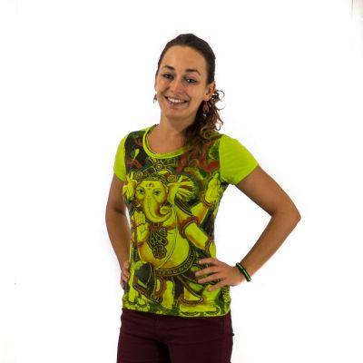 Dámske tričko Mirror s krátkym rukávom Ganapati Green | S, M, L, XL