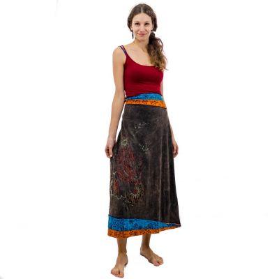 Dlhá vyšívaná etno sukne Bhamini Akar   S / M, M / L, XL