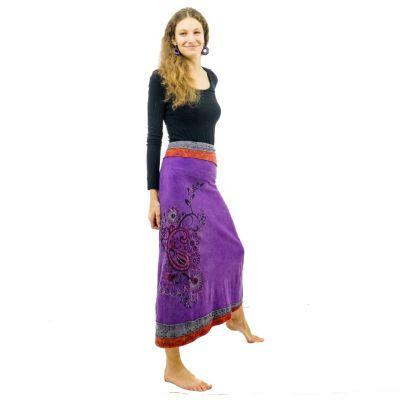Dlhá vyšívaná etno sukne Bhamini Ungu   S / M, XL