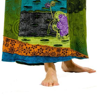 Dlhá vyšívaná etno sukne Ipsa Hijau