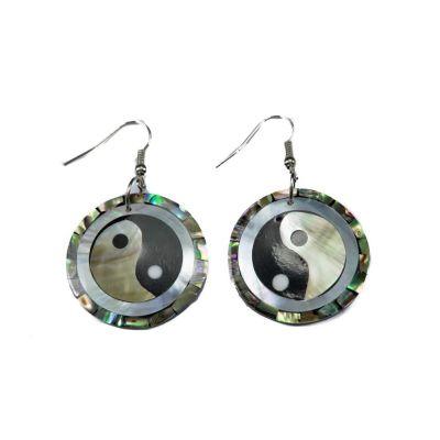 Perleťové náušnice Yin&Yang v perlete