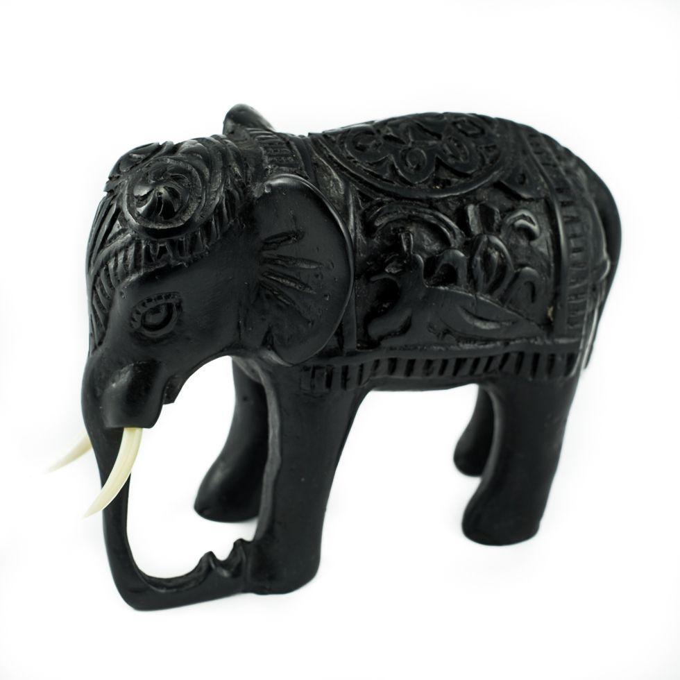 Soška z živice Slon - zdobený