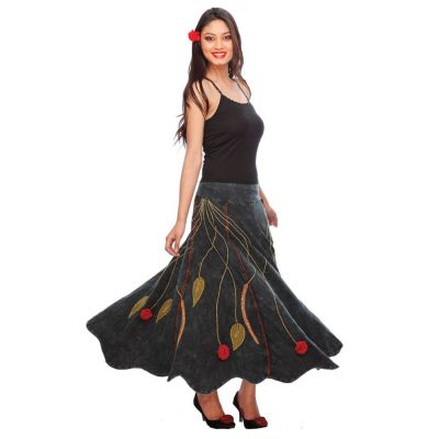 Dlhá hippie sukňa s výšivkou Gandhali   S, M, L, XL