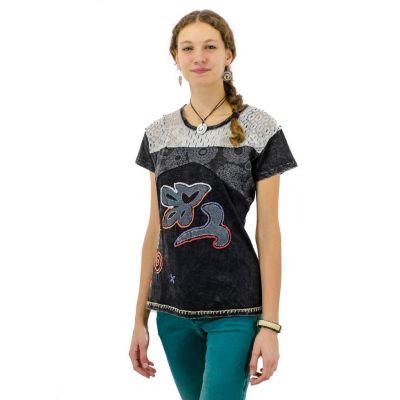Dámske tričko s krátkym rukávom Daya Hitam | S, M, L, XL, XXL