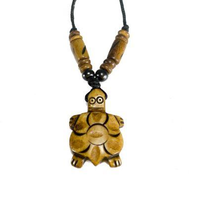 Kostený prívesok Hnedá želvička