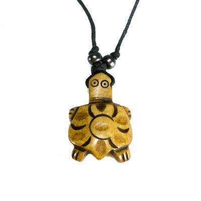 Kostený prívesok Hnedá korytnačka - jednoduchý