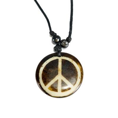 Kostený prívesok Peace - jednoduchý