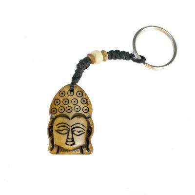 Kostený prívesok na kľúče Buddha