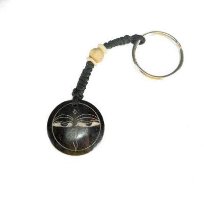Kostený prívesok na kľúče Buddhove oči