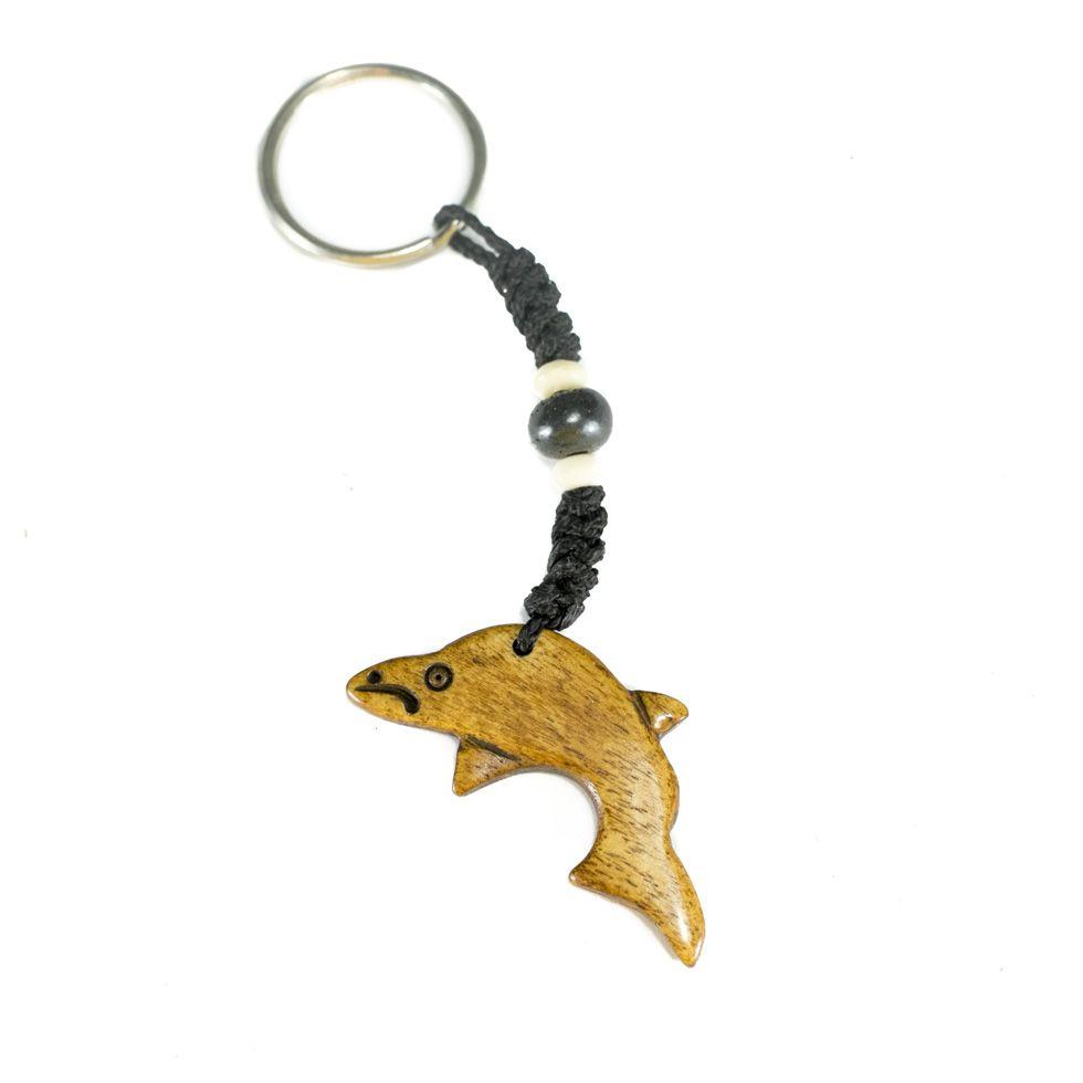 Kostený prívesok na kľúče Delfín