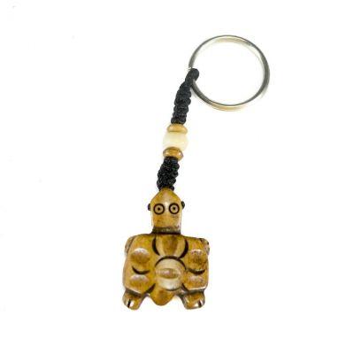 Kostený prívesok na kľúče Hnedá želvička