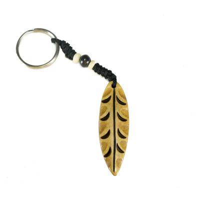 Kostený prívesok na kľúče List