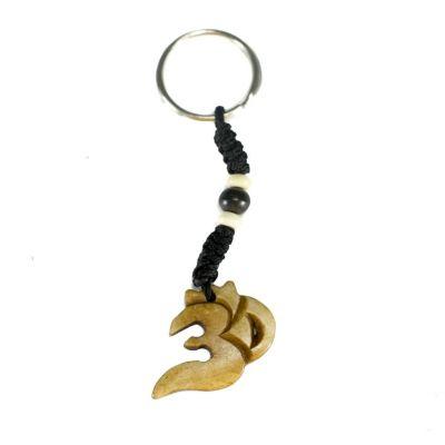 Kostený prívesok na kľúče Om Nyata - svetlý