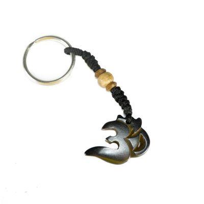 Kostený prívesok na kľúče Om Nyata - tmavý