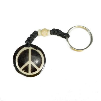 Kostený prívesok na kľúče Peace