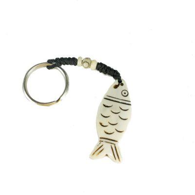 Kostený prívesok na kľúče Ryba s obrysom
