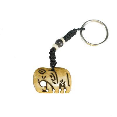 Kostený prívesok na kľúče Slon
