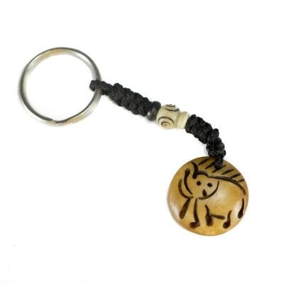 Kostený prívesok na kľúče Sloníča