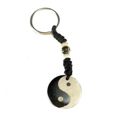 Kostený prívesok na kľúče Yin&Yang