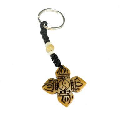 Kostený prívesok na kľúče Skrížené dordže