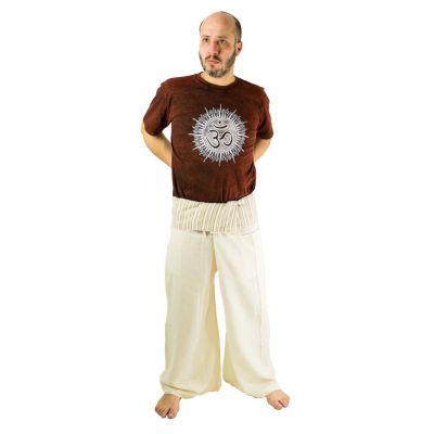 Zavinovacie nohavice Fisherman's Trousers - béžové | UNI