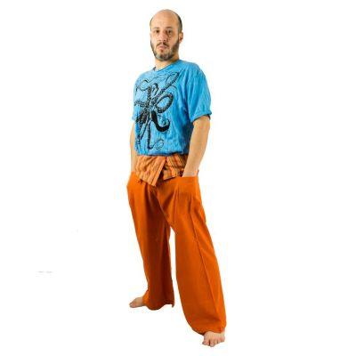 Zavinovacie nohavice Fisherman's Trousers - oranžové   UNI