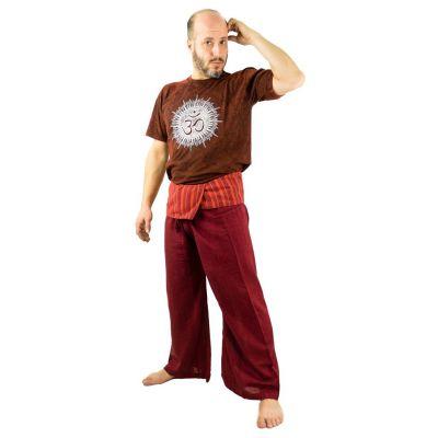 Zavinovacie nohavice Fisherman's Trousers - vínové | UNI