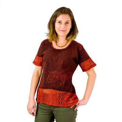 Dámske tričko s krátkym rukávom Sudha Mawar | S, M, L, XL, XXL