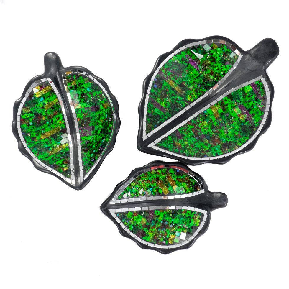 Dekoratívne miska Berkilau Green Leaf