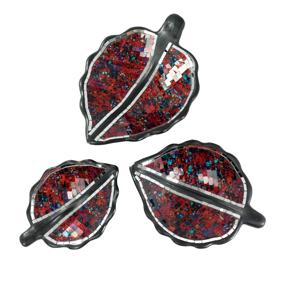 Dekoratívne miska Berkilau Red Leaf
