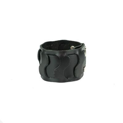 Kožený náramok Ombak Black