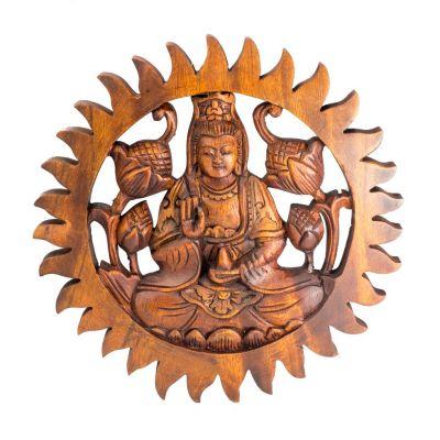 Plastika na stenu Buddha Abhaya