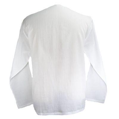 Kurta Abiral White - pánska košeľa s dlhým rukávom Thailand
