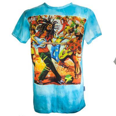 Pánske tričko Sure Bob Marley Turquoise | M