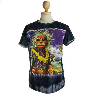 Pánske tričko Sure Einstein on Holiday Black | M, L, XL, XXL